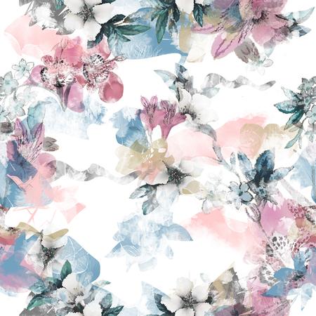 watercolor flower seamless
