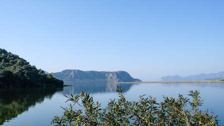 Dalyan region with interesting geographical features in Mugla, Turkey