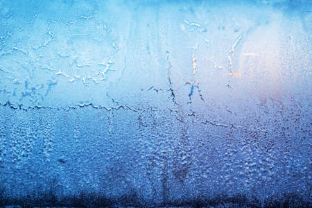 Frozen glass window, background and texture. 免版税图像