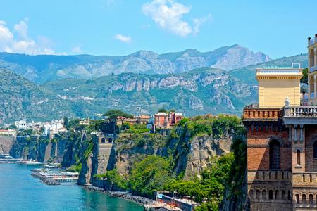 Sorrento coast, Italy. Famous touristic destination Stock Photo