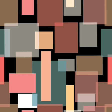 Vector illustration of overlapping rectangles of different colours, opacity and shapes. Stock Photo