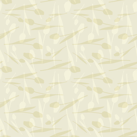 Vector illustration of abstract, stylized tulips in shades of cream and white. Perfect for scrapbooking, wallpaper, fashion design, notebook cover projects.