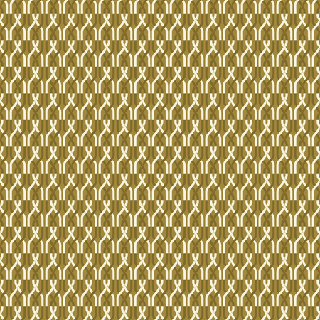 Seamless abstract retro geometric pattern. Illustration of yellow, mustard chain elements in overlapping vertical layout. Ideal for fashion, gift, paper, scrapbooking and fabric. Illustration