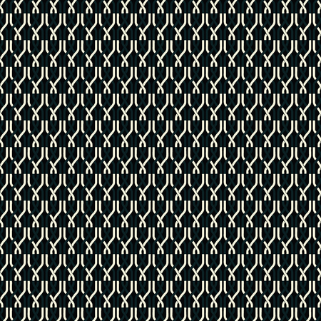 Seamless abstract retro geometric pattern. Illustration of white, cream and black chain elements in overlapping vertical layout. Ideal for fashion, gift, paper, scrapbooking and fabric.