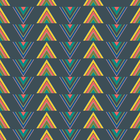 Vector illustration of blended triangles in geometric layout. Seamless repeat pattern for gift wrap, textile, fabric, scrapbooking and fashion.