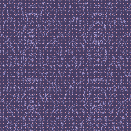 Abstract seamless pattern with mirrored symmetrical, warped stripe shapes in shades of purple, pink and lavender.