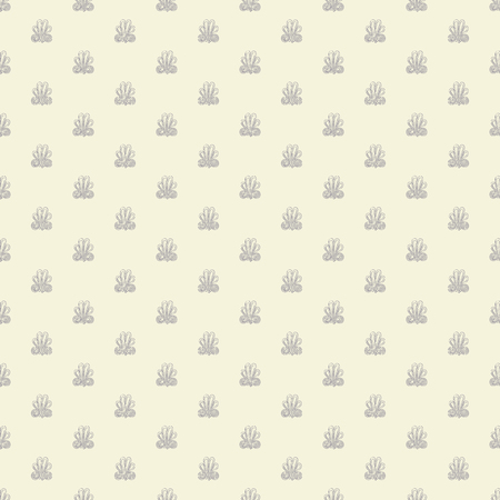Seamless pattern with intricate frog buttons in geometric layout. Pastel grey and cream vector illustration.
