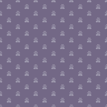 Seamless pattern with intricate frog buttons in geometric layout. Monochromatic vector illustration in shades of smoky purple. Ilustração