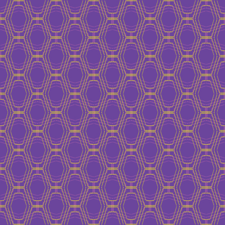 Geometric illustration in purple, yellow and lilac. Vector illustration with polygons and dots.