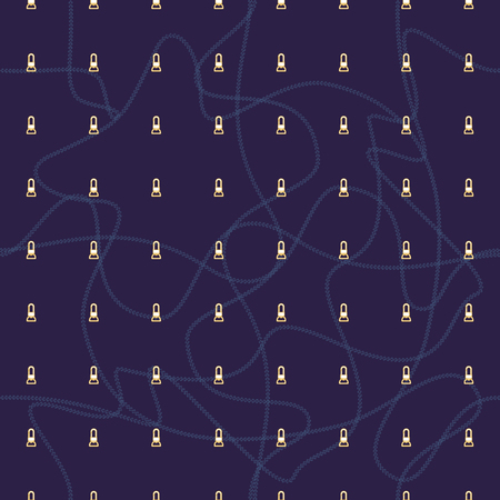 Seamless abstract retro geometric pattern with rows of claps and warped chains.. Ideal for fashion, gift, paper, scrapbooking and fabric.