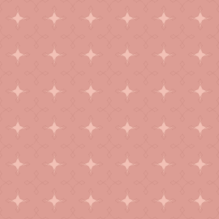 Seamless abstract retro geometric pattern. Illustration in pink, tan and cream. Ideal for fashion, gift, paper, scrapbooking and fabric.
