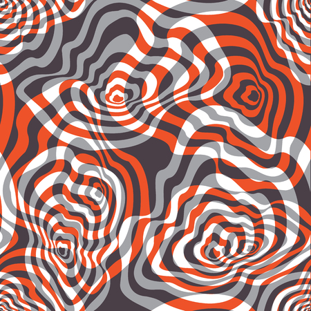 Vector illustration of orange, grey and white blended and curved shapes. Seamless repeat pattern for gift wrap, textile, fabric, scrapbooking and fashion. Reklamní fotografie