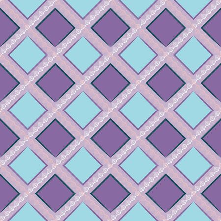 MODERN ABSTRACT GEOMETRIC VECTOR SEAMLESS PATTERN. BACKGROUND WALLPAPER ILLUSTRATION WITH DIAGONAL RECTANGLES, RHOMBUSES AND LINES.