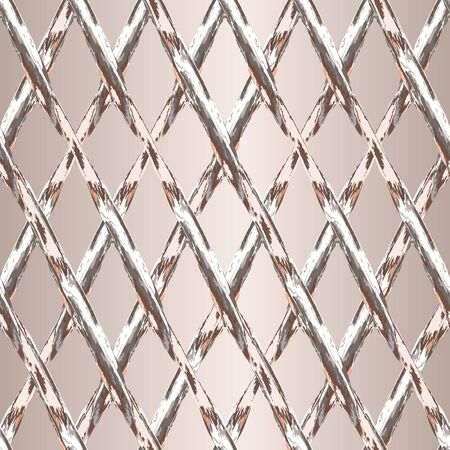 MODERN ABSTRACT GEOMETRIC VECTOR SEAMLESS PATTERN. BACKGROUND WALLPAPER ILLUSTRATION WITH CRISS-CROSSED LATTICES DRAWN IN STYLIZED WATERCOLOR TECHNIQUE.