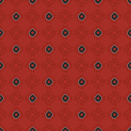 Abstract seamless pattern with abstract uneven rectangles in geometric layout. Vector illustration in shades of red, black and grey in stylized watercolour style.
