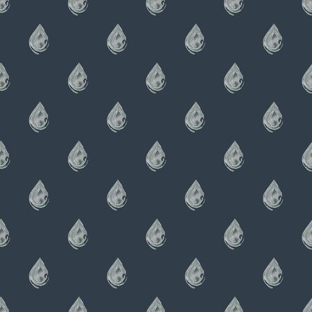 Seamless pattern with raindrops, rectangles and diamonds in geometric layout. Vector illustration in watercolour style.