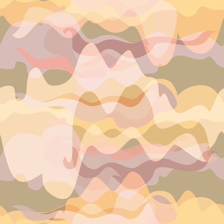Vector illustration of warped waves and distorted stripes. Seamless repeat pattern for gift wrap, textile, fabric, scrapbooking and fashion.