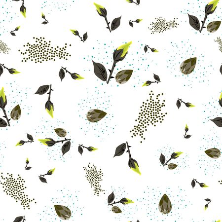 Vector Illustration of roses, sparkling diamonds, stars and glitters in lime, yellow, grey, white and black. Perfect for textile, wallpaper, backdrop, scrapbooking and home decor.