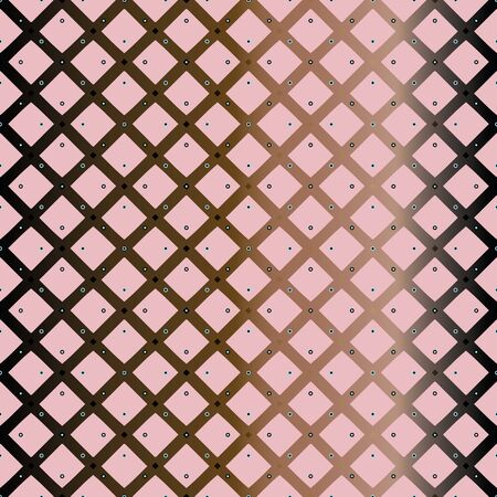 Vector Illustration of stylized stars, hexagons, eyelets, studs and criss-crossed lattice in pink, chrome, black and yellow. For fabric, fashion design, accessories, gifts