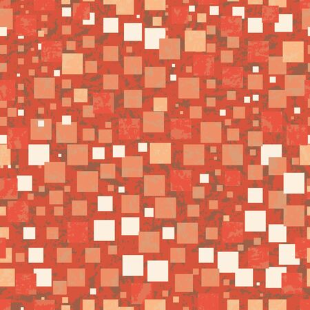 Vector illustration of blended rectangles layered on textured background. Seamless repeat pattern for gift wrap, textile, fabric, scrapbooking and fashion. Foto de archivo - 129470406