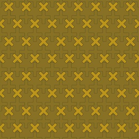 Vector illustration of math symbols on olive background. Seamless pattern for back to school supplies, textile, gifts, wallpaper and scrapbooking. Фото со стока