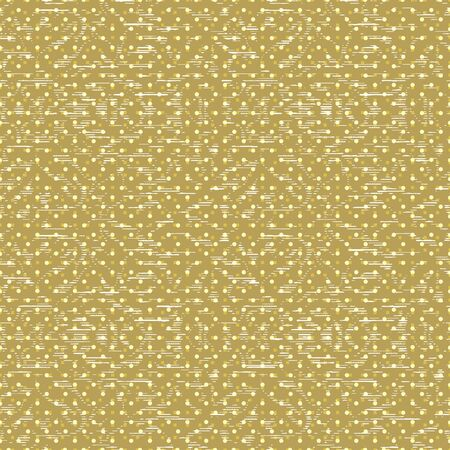 Abstract seamless pattern with layered dots and stripes. Vector illustration in shades of yellow, sage, lime and olive. Seamless pattern for gifts, posters, flyers, wallpaper, textile, fabric and scrapbooking. Stok Fotoğraf