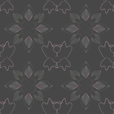 Vector illustration of stylized pig silhouettes combined with abstract gold leaves. Geometric layout with modern stylish appeal. Seamless repeat pattern for textile, cards, gifts, fabric, scrapbooking.