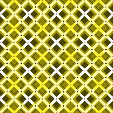 MODERN ABSTRACT GEOMETRIC VECTOR SEAMLESS PATTERN. BACKGROUND WALLPAPER ILLUSTRATION WITH DIAGONAL RECTANGLES, RHOMBUSES, STUDS, EYELETS AND STRIPES. ISOLATED FROM BACKGROUND.