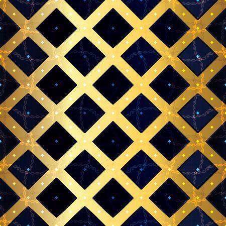 Abstract seamless pattern illustration of rectangular tiles 矢量图像