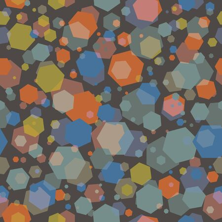 Abstract seamless pattern illustration of hexagons