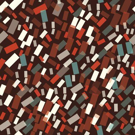 Abstract seamless pattern illustration of rectangular optical illusion tiles 矢量图像