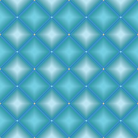 MODERN ABSTRACT GEOMETRIC VECTOR SEAMLESS PATTERN. BACKGROUND WALLPAPER ILLUSTRATION WITH DIAGONAL RECTANGLES, RHOMBUSES, GLOWING STARS AND STRIPES IN SHADES OF BLUE.