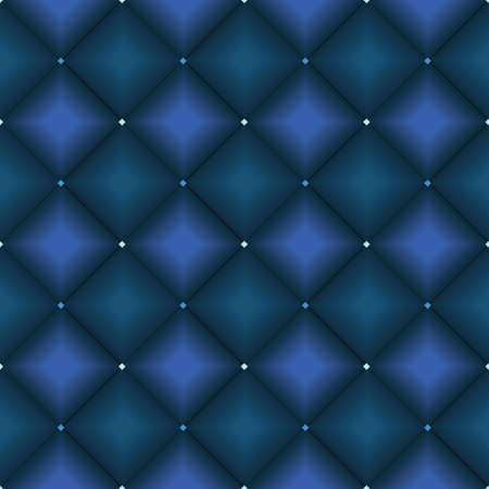 MODERN ABSTRACT GEOMETRIC VECTOR SEAMLESS PATTERN. BACKGROUND WALLPAPER ILLUSTRATION WITH DIAGONAL RECTANGLES, RHOMBUSES AND STRIPES IN SHADES OF BLUE.
