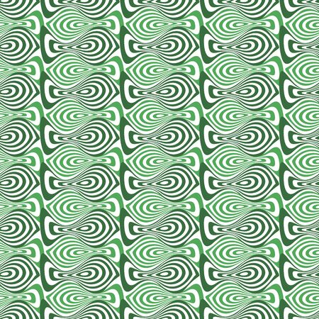 Vector illustration of stylized abstract fish shapes in shades of green. Blended, circular, wavy texture, textile rapport. Seamless repeat pattern for gift wrap, textile, fabric, scrapbooking and fashion. Reklamní fotografie