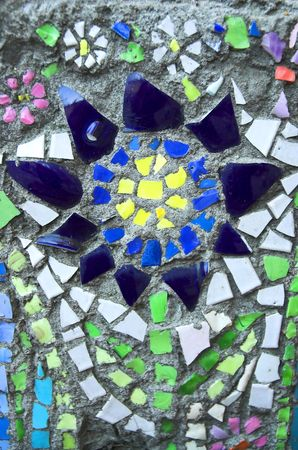Mosaic ornament in the form of a flower photo