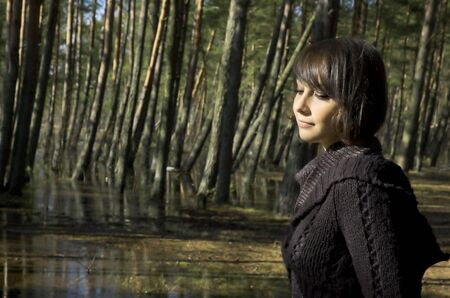 The girl in a spring wood Stock Photo - 3021207