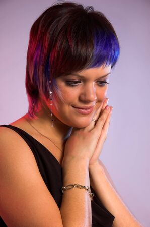 The girl with a creative hair photo