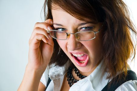 The shouting girl  close up Stock Photo - 4617156