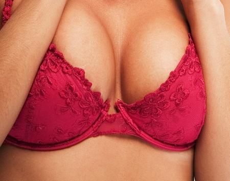 tieten: Vrouw sexy borst Stockfoto