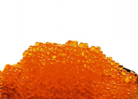 unpressed: Red salmon caviar Stock Photo