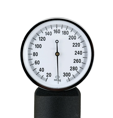 close up view of a sphygmomanometer photo