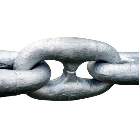Close up of Large steel ships anchor chain photo