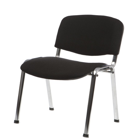 black office chair isolated on white photo
