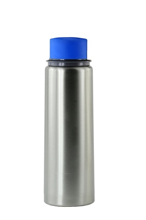 A Isolated aluminum water bottle photo