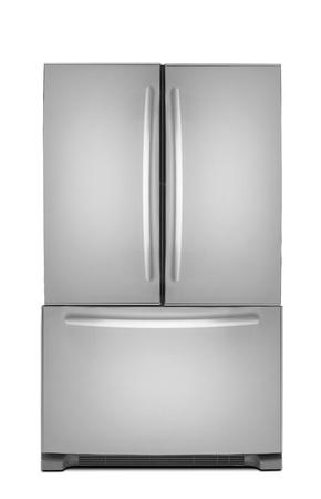 large doors: clipping path of the double door freezer