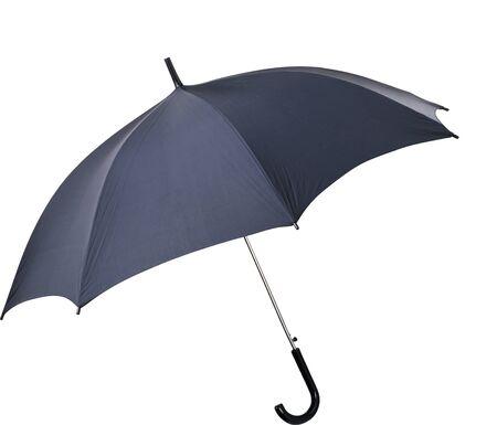 Black umbrella on white background photo