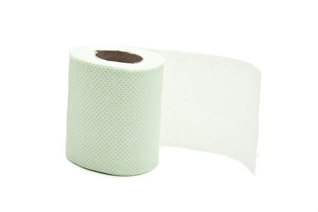 Simple toilet paper on white background Stock Photo - 11776503
