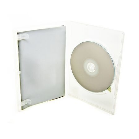 writable: blank box and cd or dvd disk Stock Photo