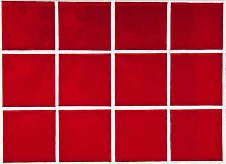 Contemporary Red Tile glossy mosaic Earthenware material photo