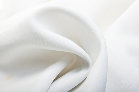 Majestic white silk textile background Stock Photo